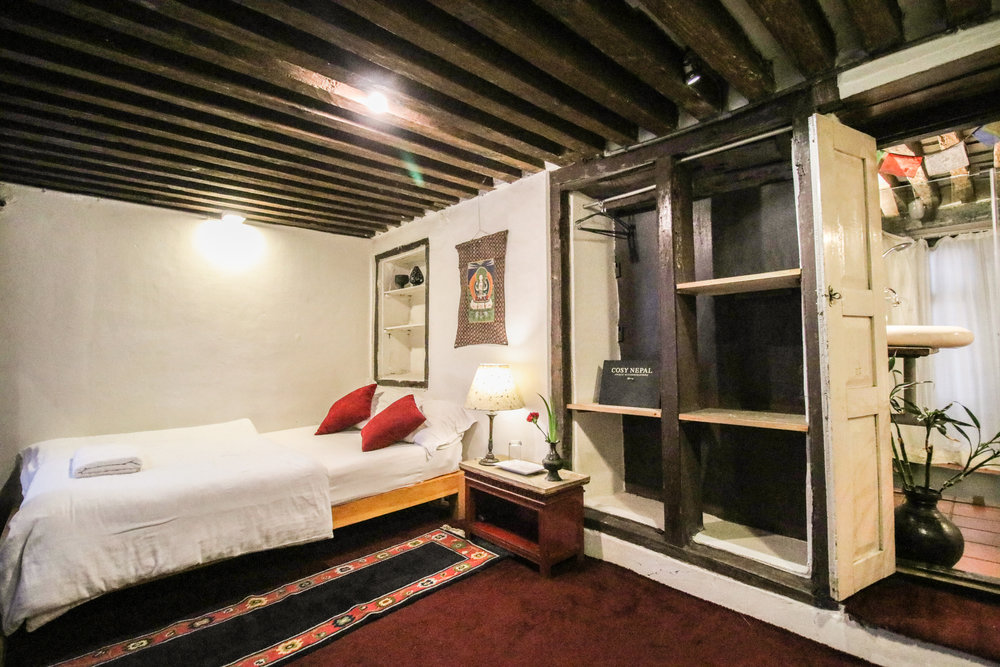 Small Single Bed And Window To View Inner Space, Courtyard.