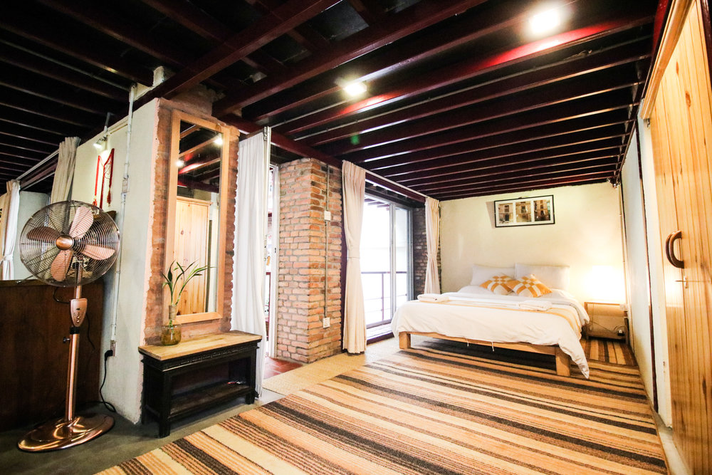 charming and bright top floor loft at Dhakhwa House.