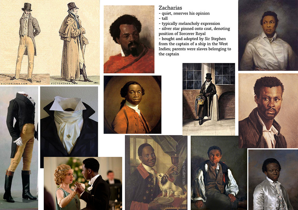 Inspiration board for Zacharias Wythe.