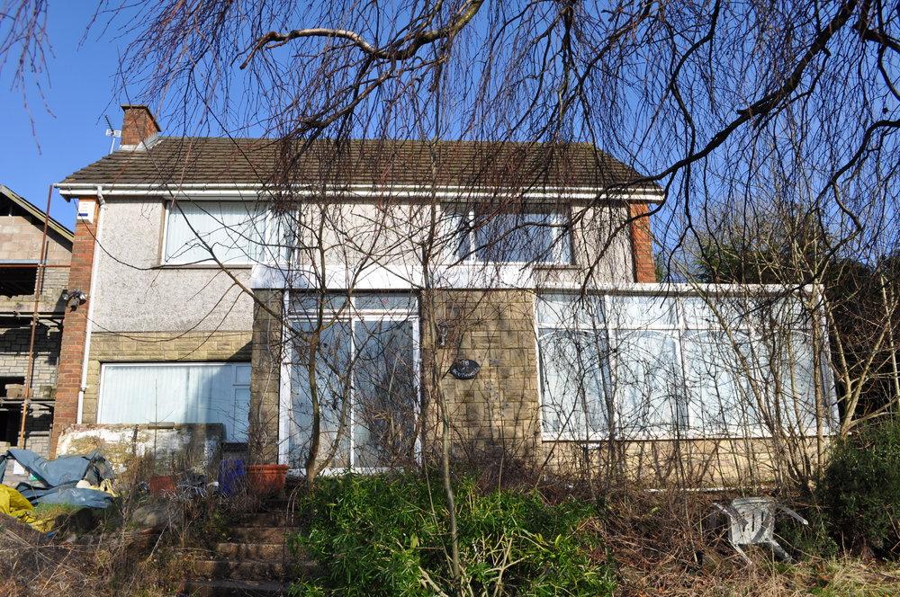 The original house prior to redesign