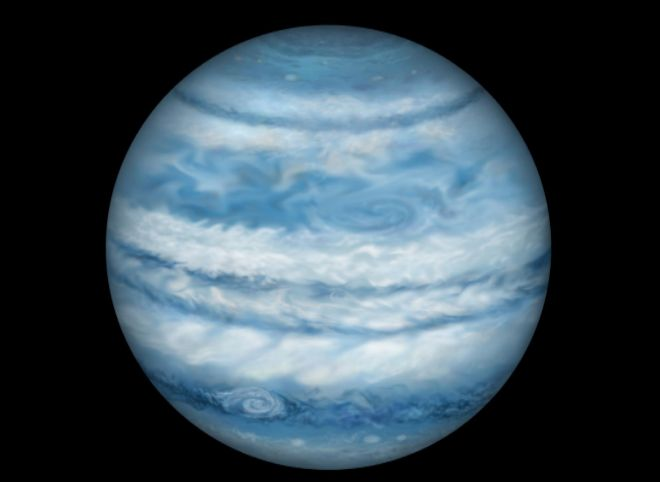 Representación del planeta Kepler-1647 (Tatooine) Lynette Cook.
