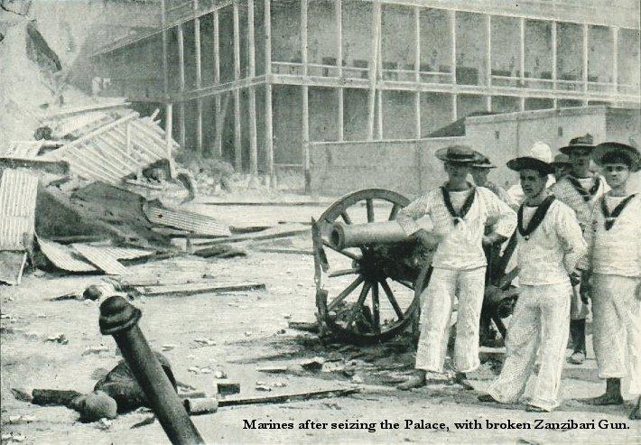 Unos marines ingleses sacándose una foto