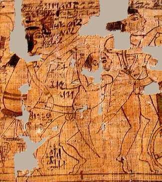 Detalle del papiro... ¡menudo pollón!