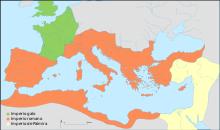 En amarillo el Imperio de Palmira
