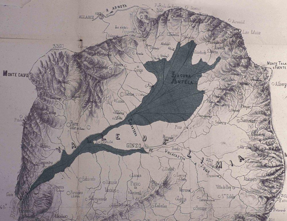 Mapa de las Laguna en 1866