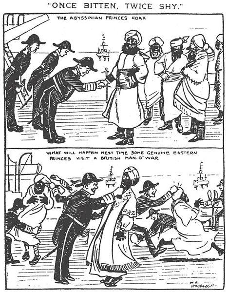 Caricatura de un periódico de la época