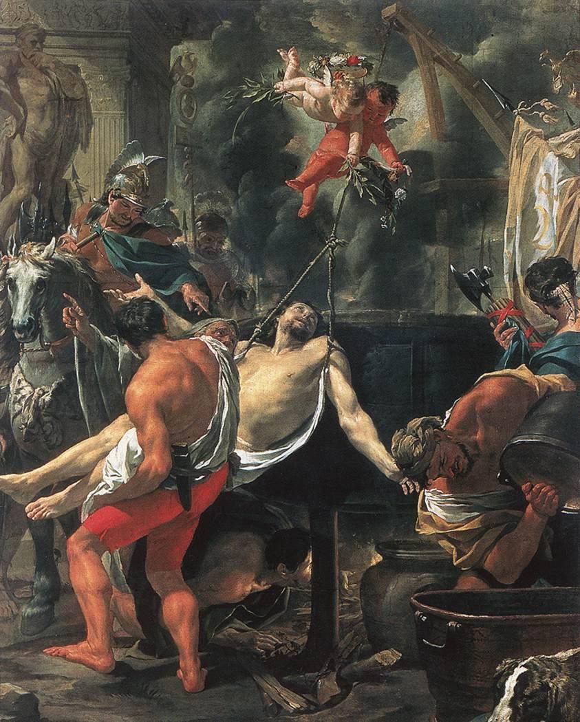 Martirio de San Juan, cuadro de Charles Le Brun