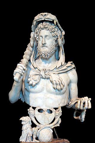 Busto de Cómodo, representado como Hércules