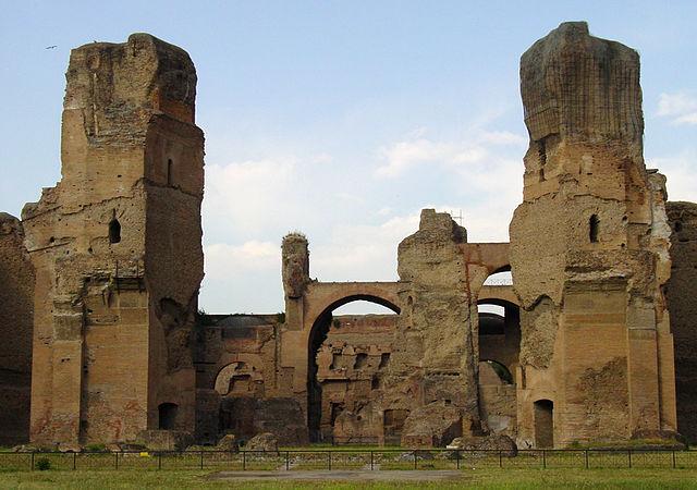 Las ruinas de las Termas de Caracalla
