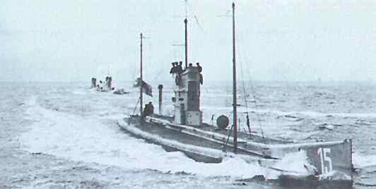 Submarino alemán de la época