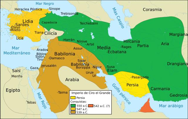 Las conquistas de Ciro antes de encontrarse con Tomiris