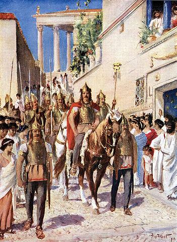 Alarico tomando Atenas