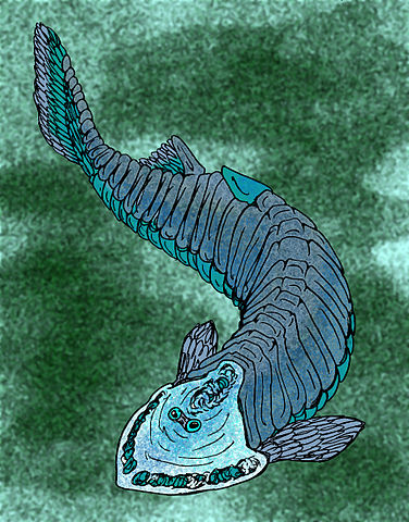 Un Cephaslaspis, un agnato acorazado