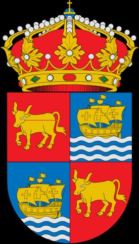 Escudo de Baiona, las vacas no tienen nada que ver con la encarcelada