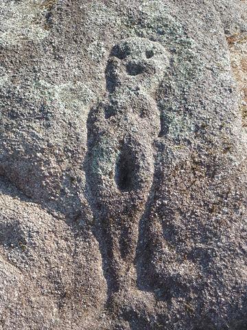 Petroglifo llamada de A Moura, ubicado en el Sitio Arqueológico de Pena Furada en A Coruña