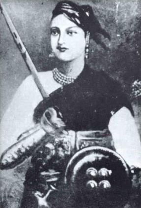 Retrato póstumo de la RaníLakshmibai