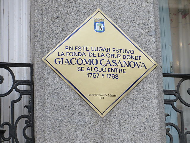 Placa conmemorativa en Madrid