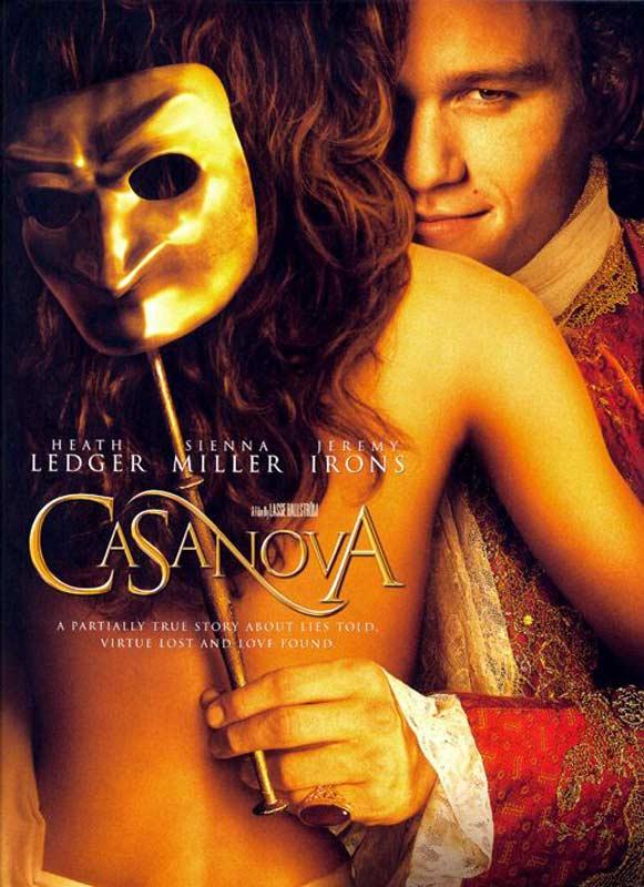 Cartel de la película sobre Casanova donde lo interpreta Heath Ledger