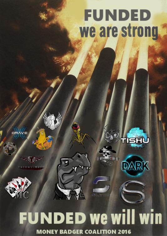 Cartel propagandístico de los ¿ganadores? de la guerra
