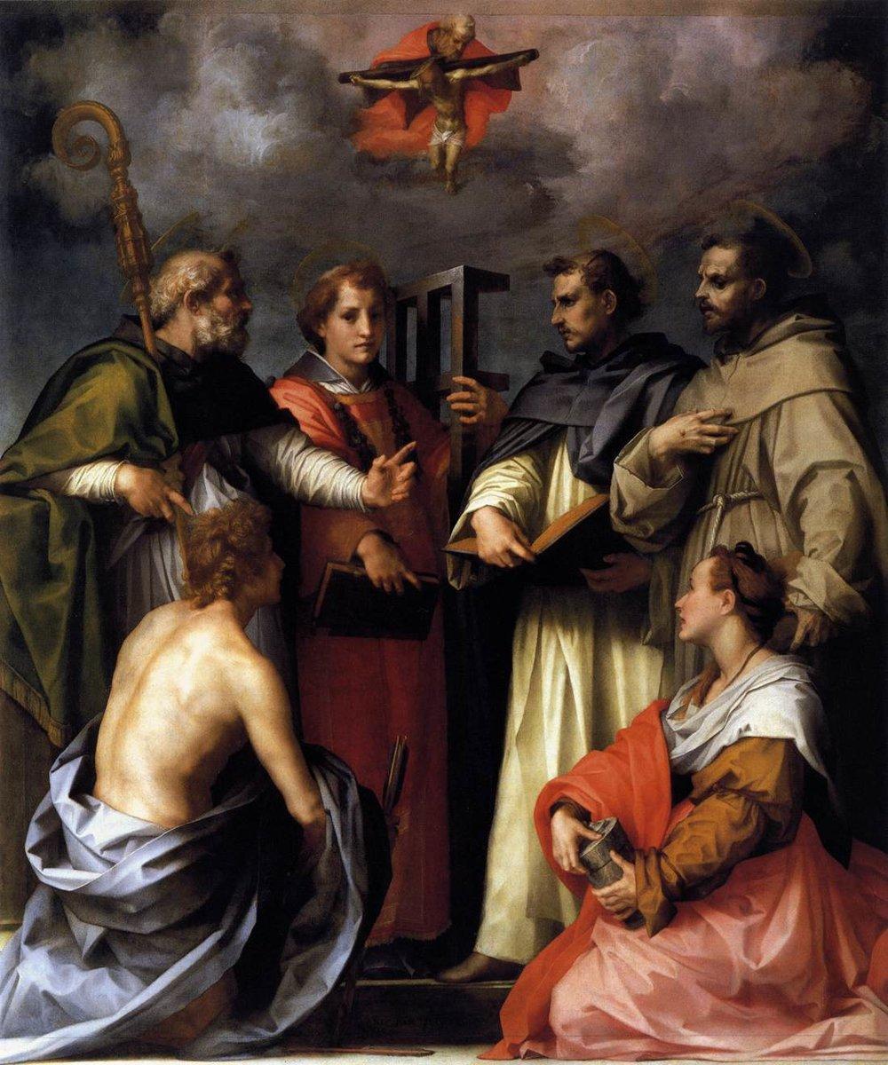 Discusión sobre la Santísima Trinidad // 1517 // Andrea del Sarto HORAS Y HORAS. SÚPER ÚTIL