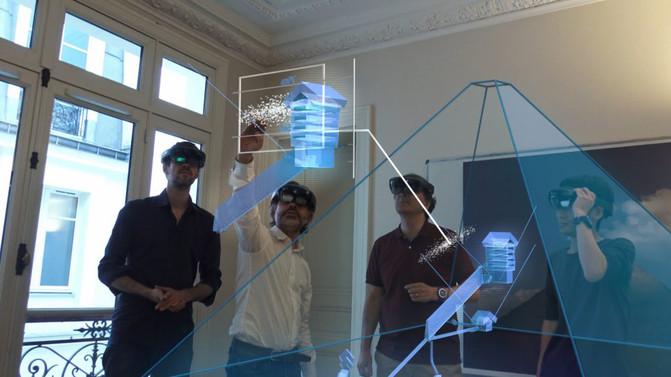 Para estudiar la estructura interna de la pirámide el equipo también ha utilizado la realidad virtual aumentada. / ScanPyramids mission