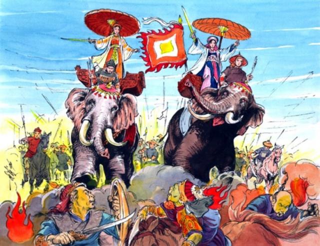 Con sus elefantes, pisando chinos