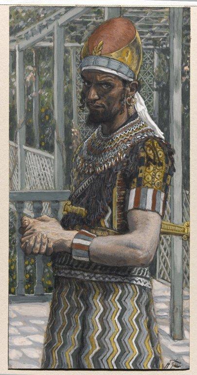 Pintura de Herodes el Grande de James Tissot