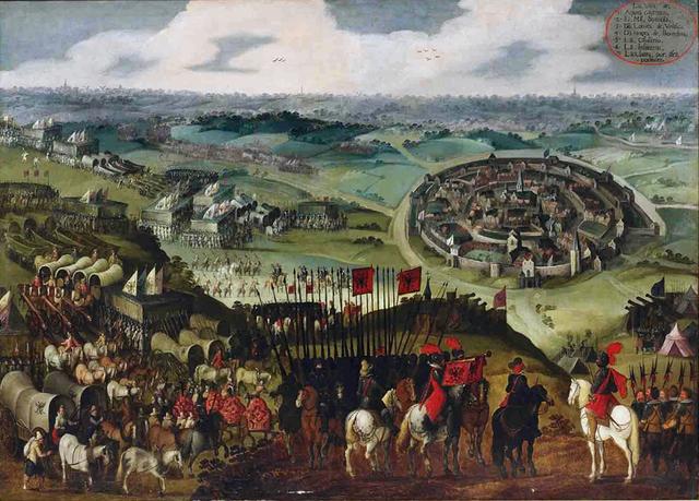 Pintura del Asedio de Aquisgrán
