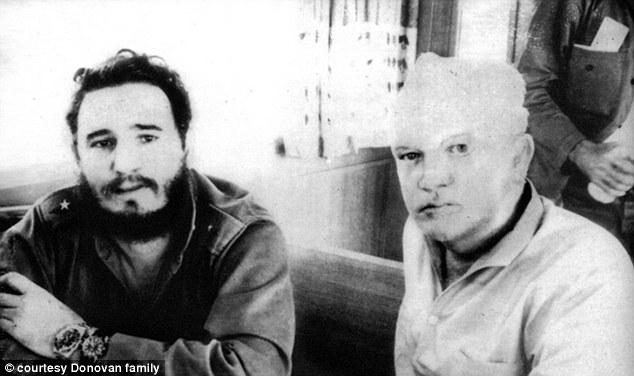 Donovan con Castro