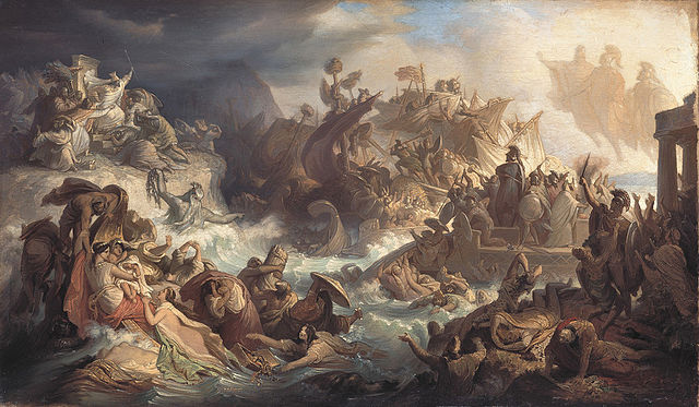 Cuadro sobre la Batalla de Salamina de Wilhelm von Kaulbach