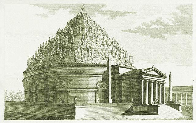 Reconstrucción del Mausoleo - de Luigi Canina, 1851,