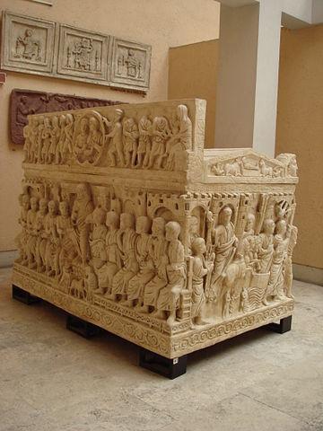 El llamado Sarcófago de Estilicón, en la Basílica de San Ambrosio en Milán