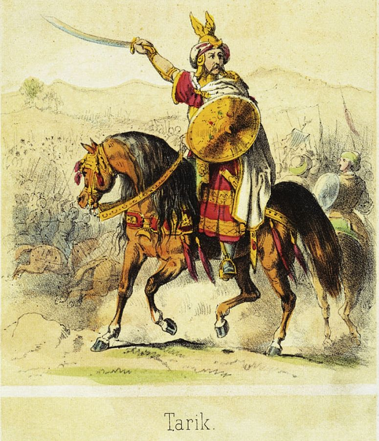 Reimaginación de Tariq,de Theodor Hosemann (1807-1875)