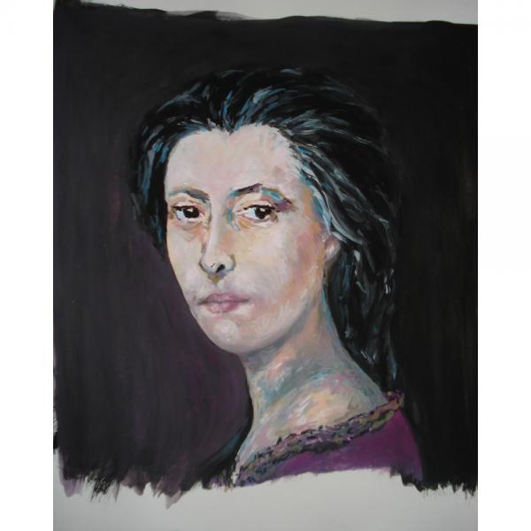 Retrato de María Castaña realizado por María Presas para o Álbum de Mulleres