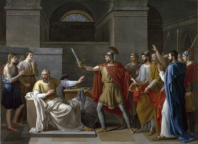 Wamba renunciando a la corona. Cuadro de 1819 por Juan Antonio Ribera.
