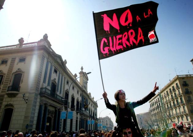 No a la Guerra, imagen de  Verne