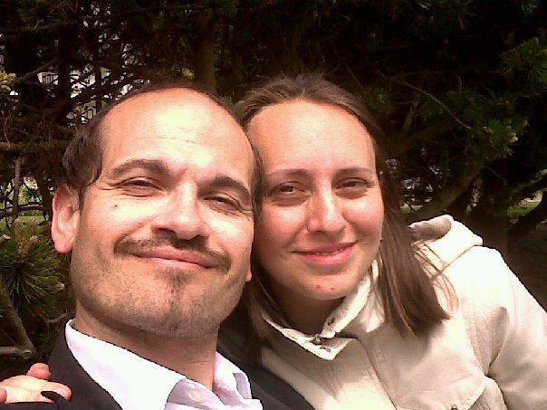 Bourdin en 2008 con su mujer
