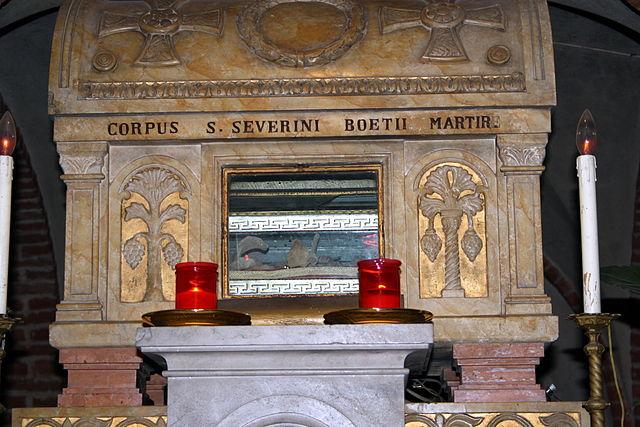 La Tumba de Boecio, en la iglesia de San Pietro en Pavia