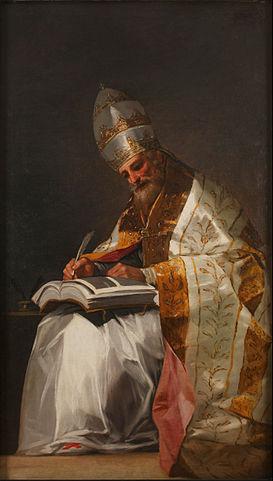 Gregorio Magno, un papa Anicio. por Goya
