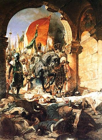 Mehmed II entrando en Constantinopla