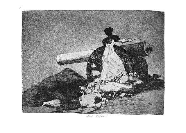 Agustina por Goya, en el cuadro ¡Qué valor!