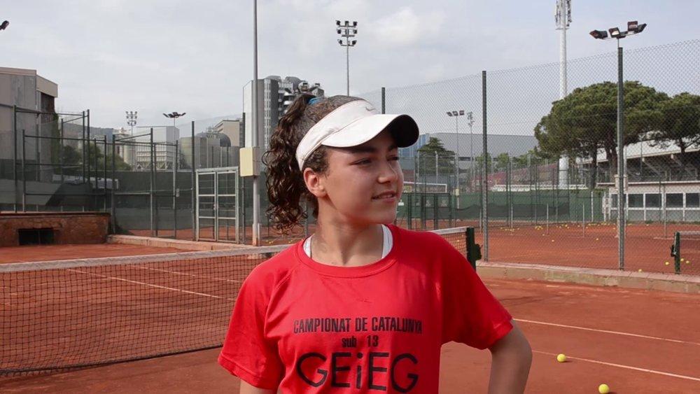 Claudia de las Heras, 15 años, nacida en Barcelona.Se acaba de proclamar campeona de la prueba inaugural del Mutua Madrid Open Sub 16 y esto le permitirá disputar la fase final del circuito, que tendrá lugar en la Caja Mágica coincidiendo con los últimos días del Mutua Madrid Open (del 10 al 13 de mayo de 2019)