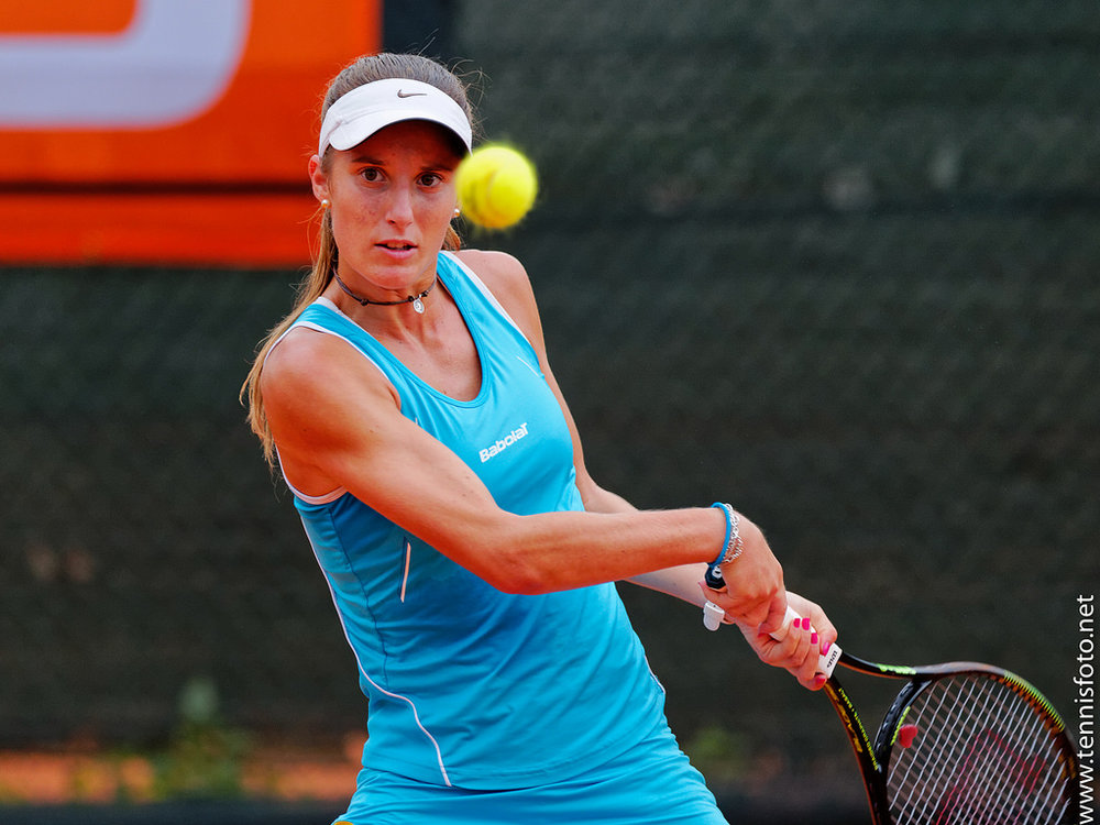 Marina Bassols, 18 años, nacida en Blanes. Es número 451 en el ránking WTA y en 2015 fue nombrada Mejor Jugadora Europea Sub'16 por la Federación Tennis Europe.
