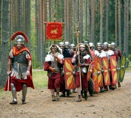Representación de la Legión V Macedónica sacado de http://byzantinemilitary.blogspot.com/