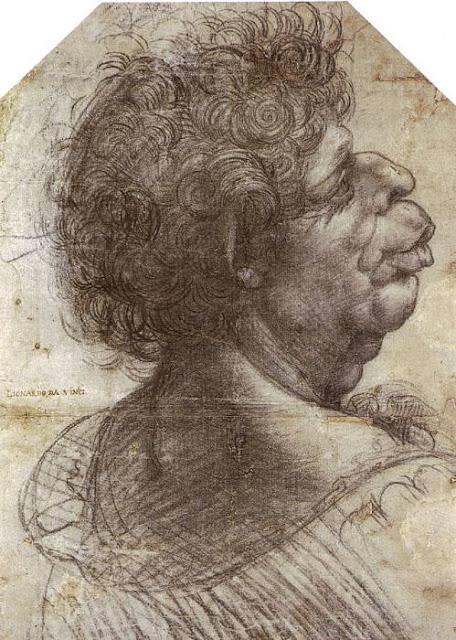Cabeza grotesca, Leornado Da Vinci