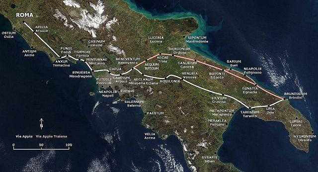 Recorrido de la Vía Appia