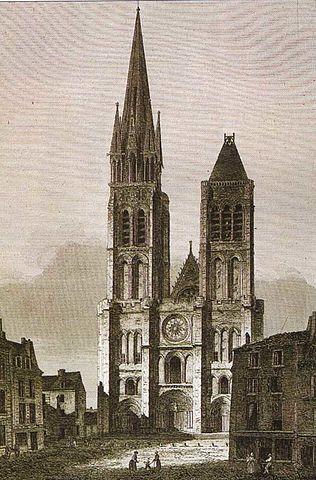La iglesia hace siglos antes de perder una de sus torres