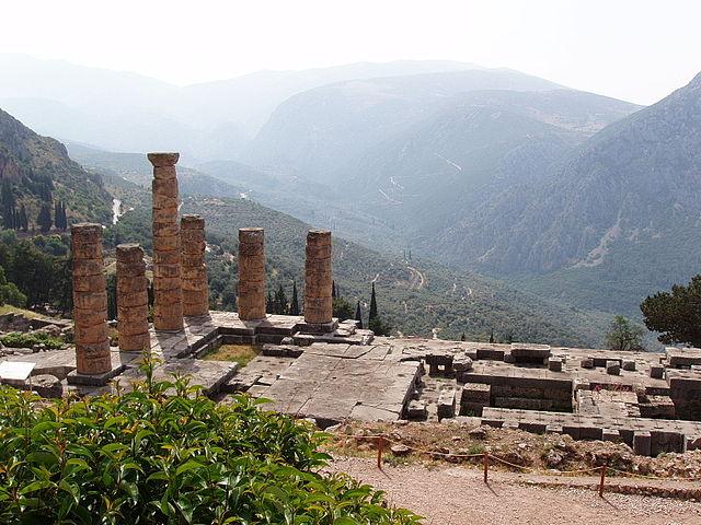 El Templo de Delfos en la actualidad