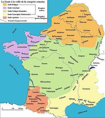 La Galia antes de la llegada romana