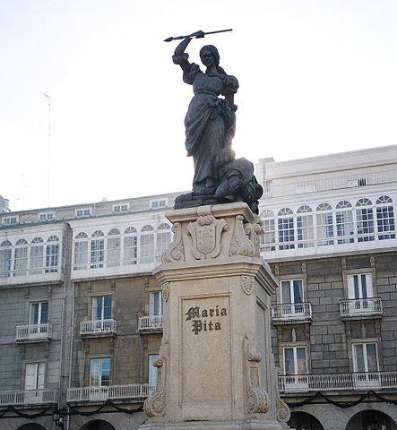 Estatua de María en A Coruña